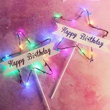 Party-Decoration-Accessories Cake-Topper Birthday-Girl Gift DIY Boy Kawaii Star Supplies