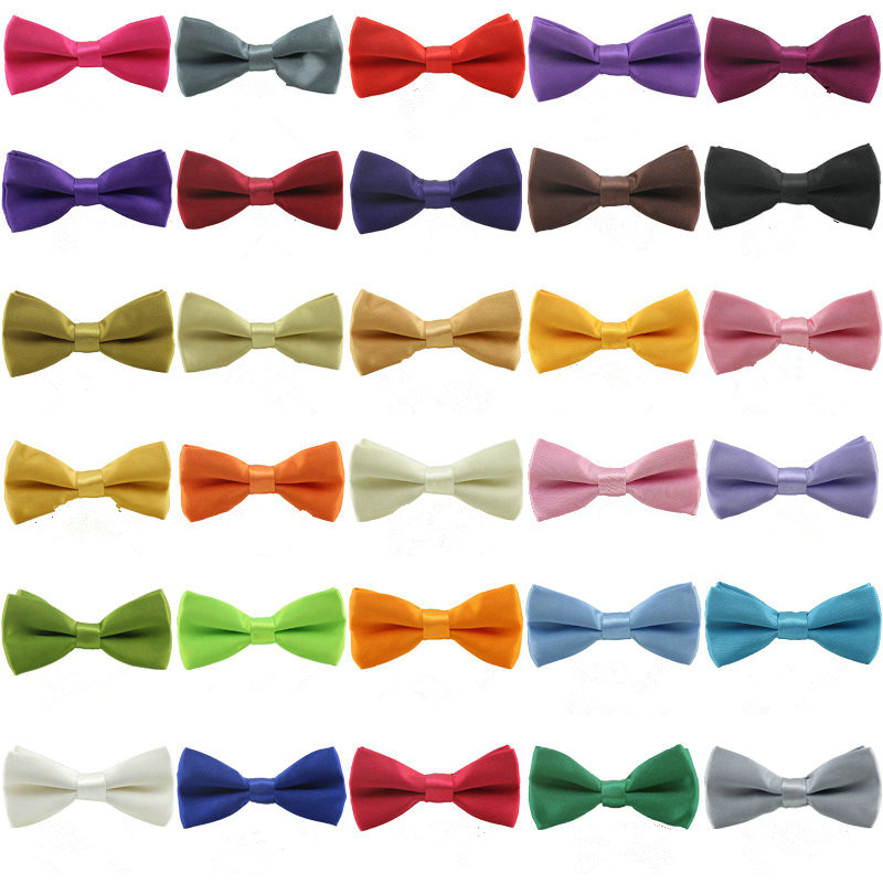100PC Lot Double layer Dog Bow Ties Collars Polyester Dog Neckties Wedding Ties Pet Accessories