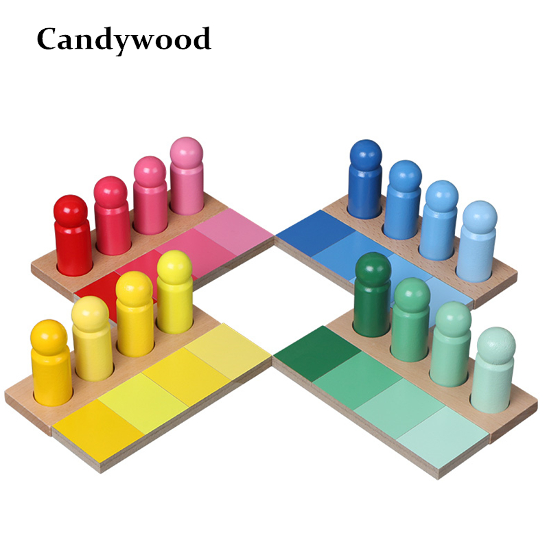 Montessori Materials Baby Toy Montessori Color Matching Color Resemblance Sorting Early Childhood Preschool Kids Educational Toy