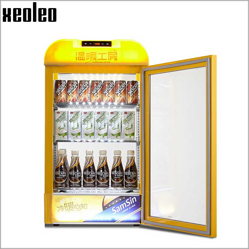 XEOLEO 65L Drink warm display Commercial Hot Drink cabinet Beverage warmer Food warm machine 20-60 degree/3 layer Showcase high quality electric stainless hot dog warming cabinet food warmer showcase display