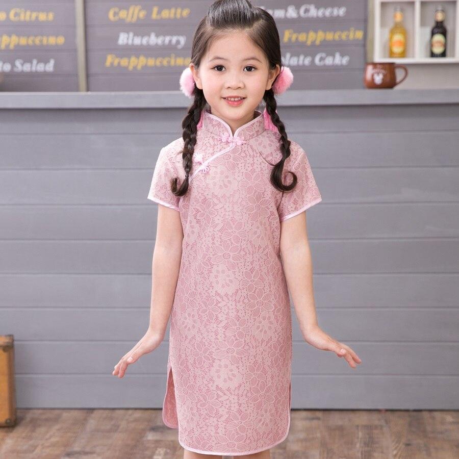 Bambino floreale Qipao Vestito Dalla Ragazza Chi-Pao Cheongsam Regalo Di  Natale Cinese Bambini Abiti di Pizzo Ragazze abbigliamento Principessa  Abito Da ... 785f0c0ccb2