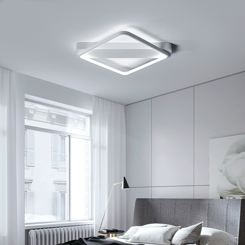 Led square diamond ceiling lamp modern minimalist lighting furniture ceiling lamp living room bedroom lamps Ceiling Lights     -