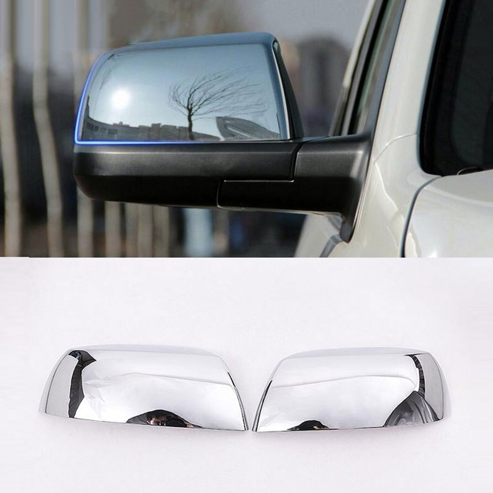 For Toyota Tundra Crew Max 08 15 Sequoia ABS Polish Chrome Car Side Rearview Mirror Cover