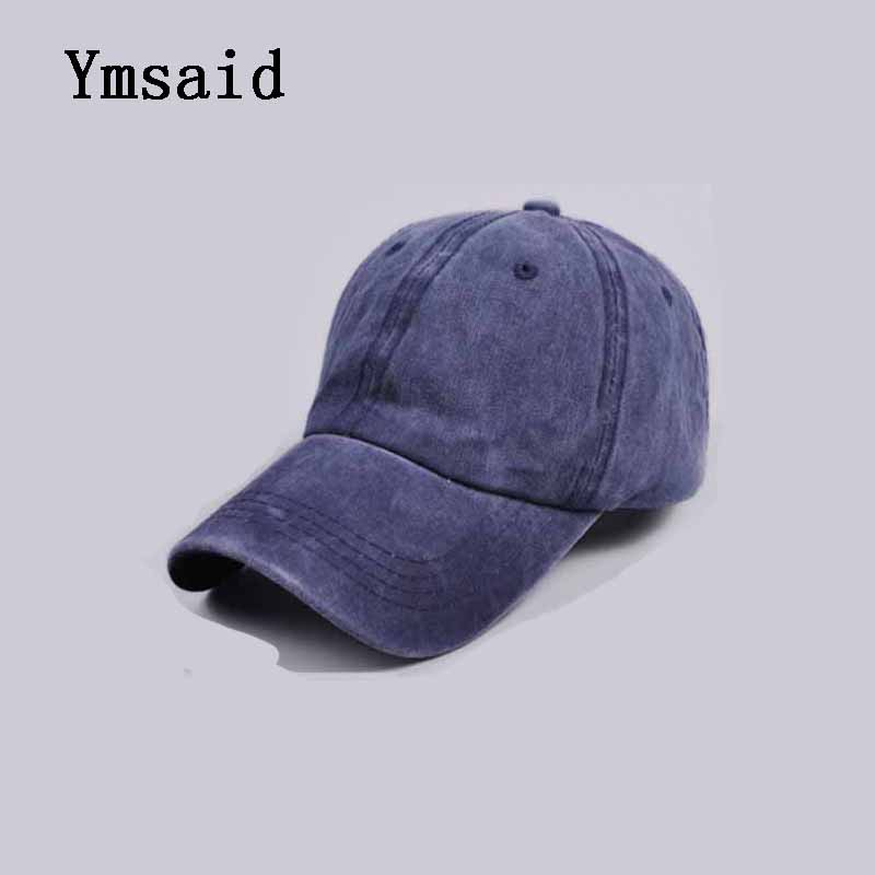 High Quality Washed Cotton Adjustable Solid Color Baseball Cap Unisex Out Hat Fashion Leisure Casual Snapback Caps