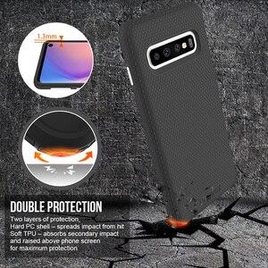 Image 3 - TOIKO X 2 ใน 1 สำหรับSamsung Galaxy S10 กันกระแทกครอบคลุมS10e S10 PLUS Soft TPU PCเกราะไฮบริดเชลล์