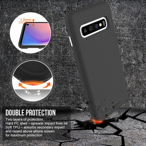 Image 3 - TOIKO X Guard 2 in 1 Protection Case for Samsung Galaxy S10 Shockproof Covers S10e S10 Plus Soft TPU Hard PC Armor Hybrid Shell