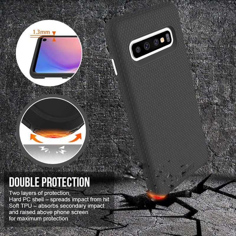 Toiko x guarda 2 em 1 caso de proteção para samsung galaxy s10 à prova de choque cobre s10e s10 plus tpu macio duro pc armadura híbrido escudo