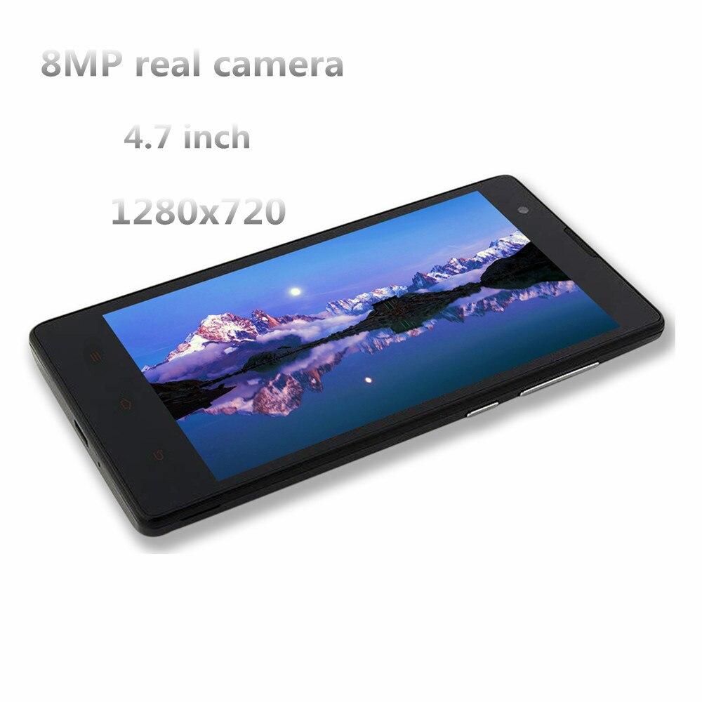 Nuevos teléfonos inteligentes 1G RAM + 8G ROM quad core Android OS China teléfonos móviles 2MP + 8MP frente /cámara HD teléfonos celulares desbloqueado MTK