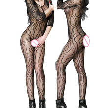 Women's Sexy Lingerie Hot Bodystocking Sexy Body Costumes Erotic Underwear Teddies Bodysuits Crotchless Open Crotch Shop WY150(China)