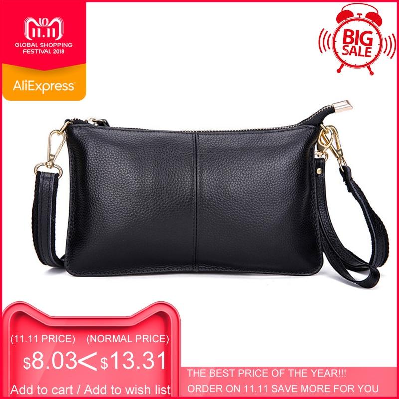 100% натуральная кожа женская сумка известного бренда женская сумка через плечо конверт клатч сумка через плечо кошелек для женщин 2018