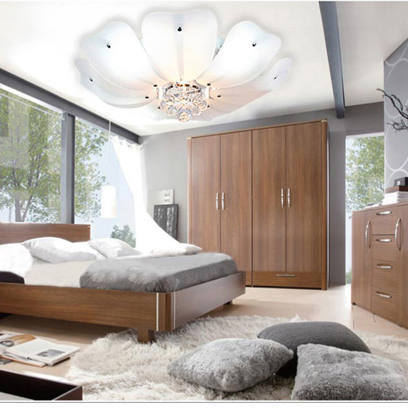 led e27 Nordic Iron Crystal Glass LED Lamp.LED Light.Ceiling Lights.LED Ceiling Light.Ceiling Lamp For Bedroom Dinning Room