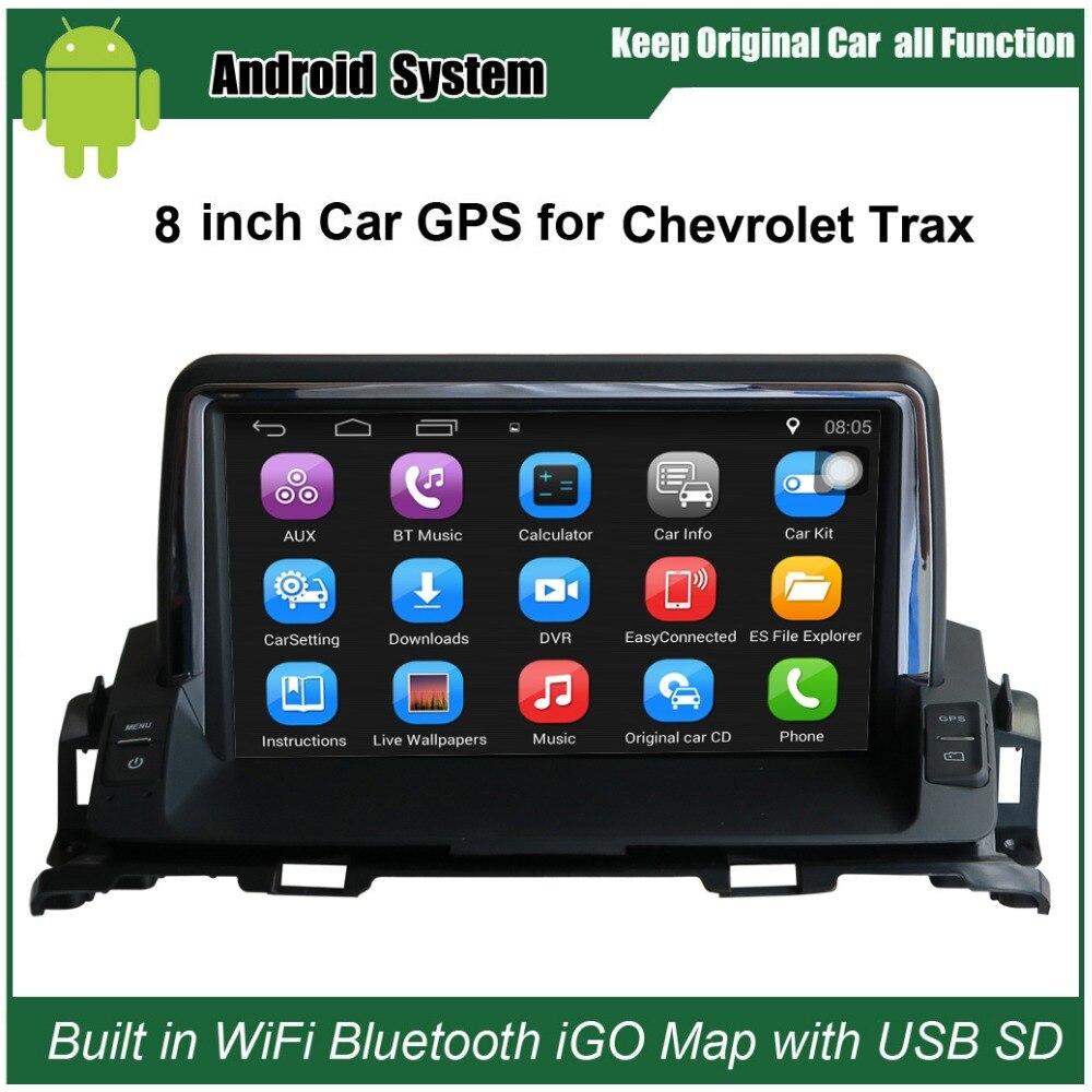 8 дюймов android автомобильный GPS навигации для Chevrolet Trax Автомобиль WiFi видео плеер Bluetooth зеркало link повышен оригинальный автомобиля радио