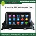 8 polegada Android de Navegação GPS Do Carro para Chevrolet Trax Carro Player de Vídeo Wi-fi Bluetooth Carro Espelho-link Atualizado Originais rádio