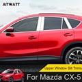 Для Mazda CX-5 CX5 2017 2018 экстерьер из нержавеющей стали автомобильный верхний Подоконник Накладка украшение 6 шт./компл. Стайлинг автомобиля
