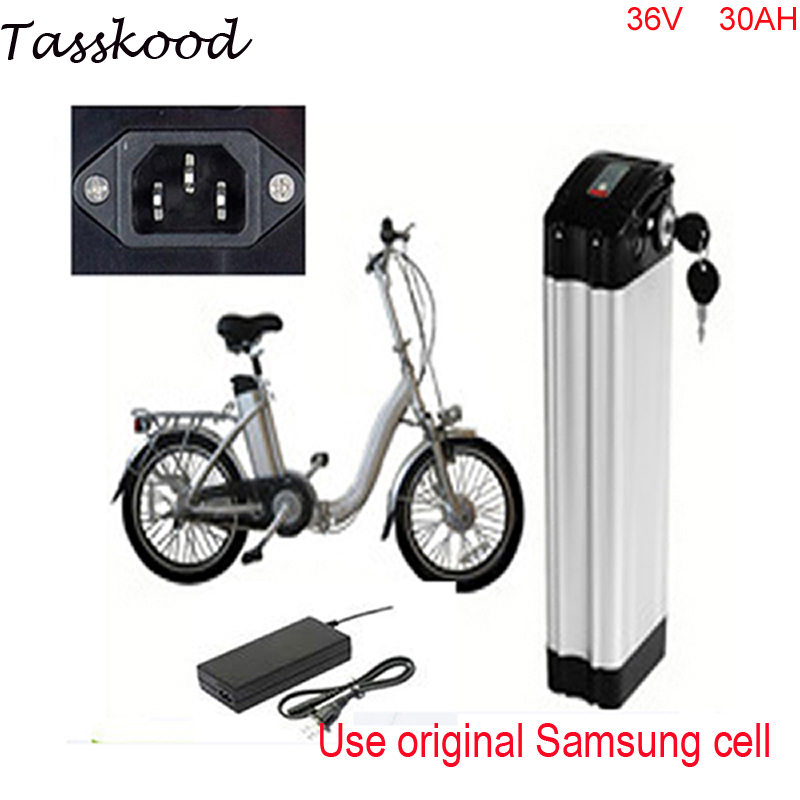 Top discharge sliver fish e-bike battery 36v 30ah polymer lithium battery 36v 1000w li ion battry pack with Use Sanyo 18650 cell liitokala battery pack 36v 6ah 10s3p 18650 battery rechargeable bikes modified protection of the electric vehicle 36v with pcb