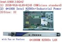 1U Pfsense четырехъядерный Celeron J1900 сетевой безопасности управление рабочего брандмауэр маршрутизатор промышленности компьютер 4 GbE LAN