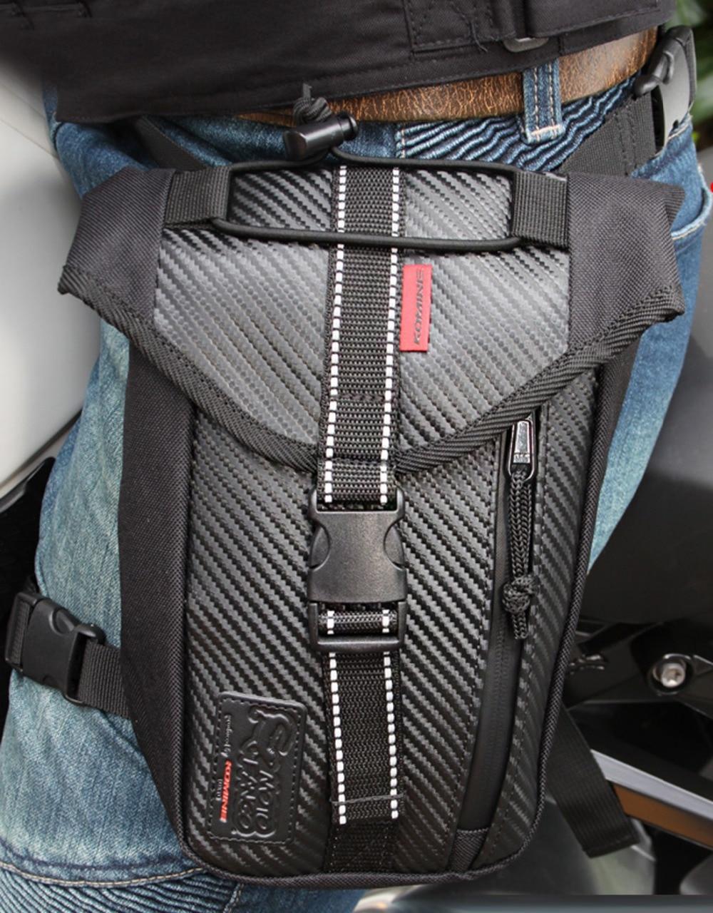Herre Vandtæt Drop Leg Bag Multi-Purse Fanny Pack Talje Lår Hip Bum Bælte Motorcykel Military Tactical for Travel Ridning Bag