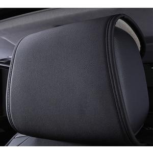 Image 3 - Hoge Kwaliteit Pu Lederen Auto Stoelhoezen Fit Volkswagen Vw Passat B5 B6 Polo Golf Tiguan 5 6 7 Jetta Touran touareg Sticker Stijl
