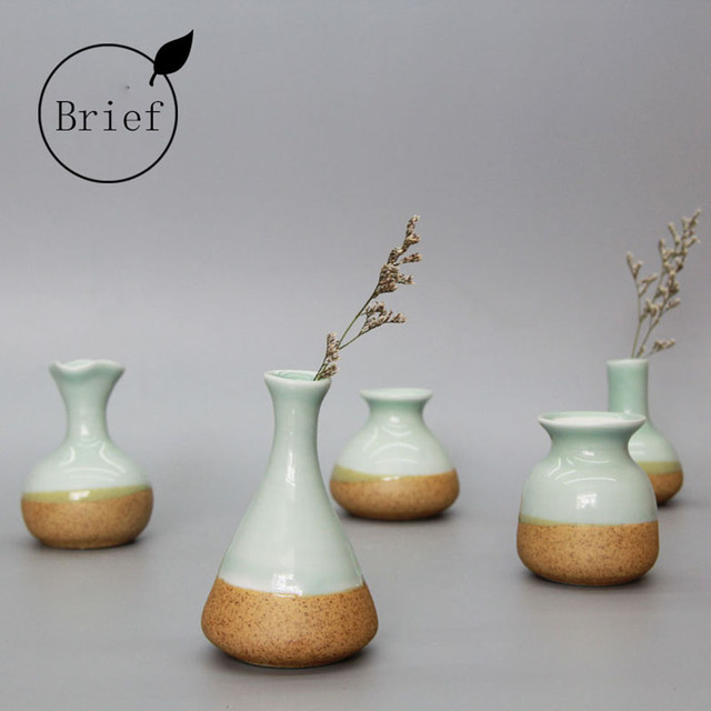 Creative Handmade Jingdezhen Ceramic Porcelain Floret Dried Flowers