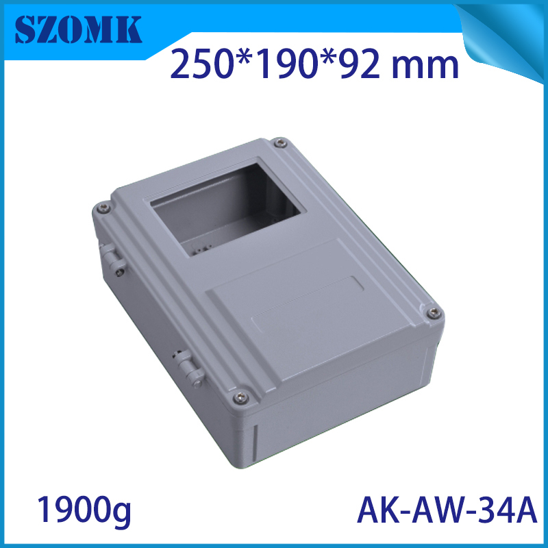Aluminum Die Cast Waterproof Junction Box for Electronics PCB Board Design Diy Instrument Project Case Enclosure for Outdoor Use aluminum exterior electrical enclosure outdoor waterproof use for electronics pcb box connection junction box project case