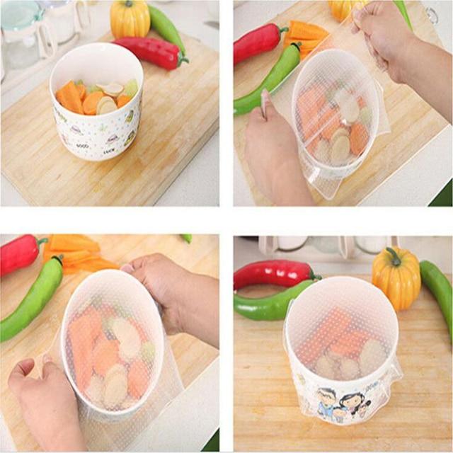Food Saran Wrap Stretch Reusable silicone kitchen utensils