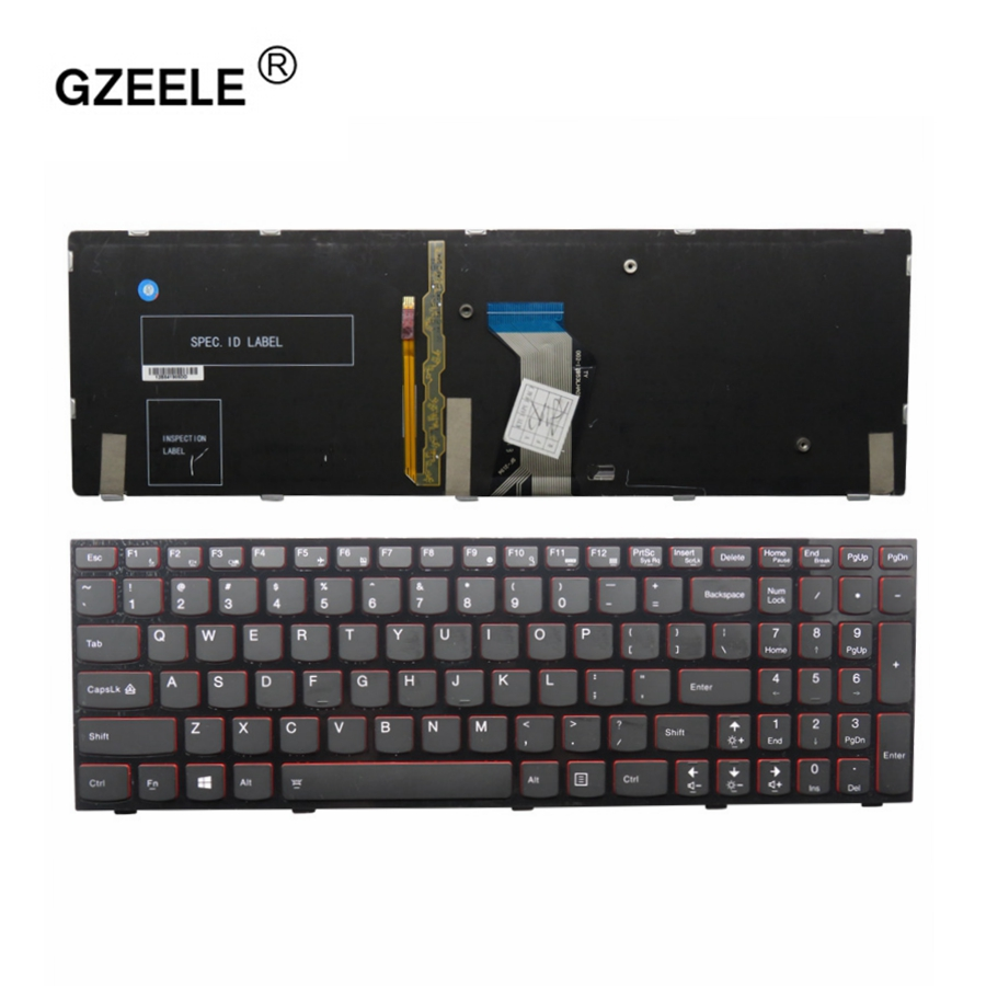 GZEELE New English Keyboard FOR Lenovo Y500 Y500N Y510P Y500NT US laptop keyboard with backlight replace