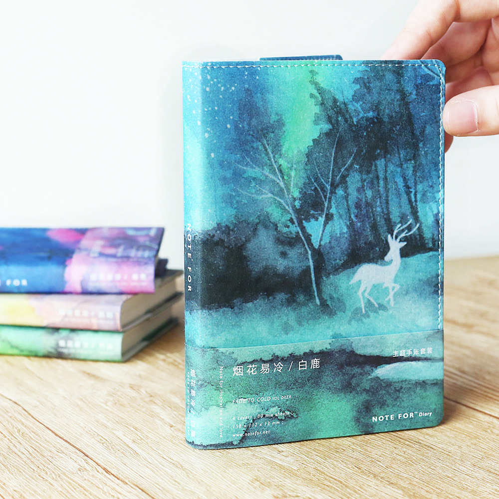 Note For Seasons Creative Softcover A6 Journal Book 80 Sheets Blank+Squared+Lined Paper DIY Diary Planners Gift