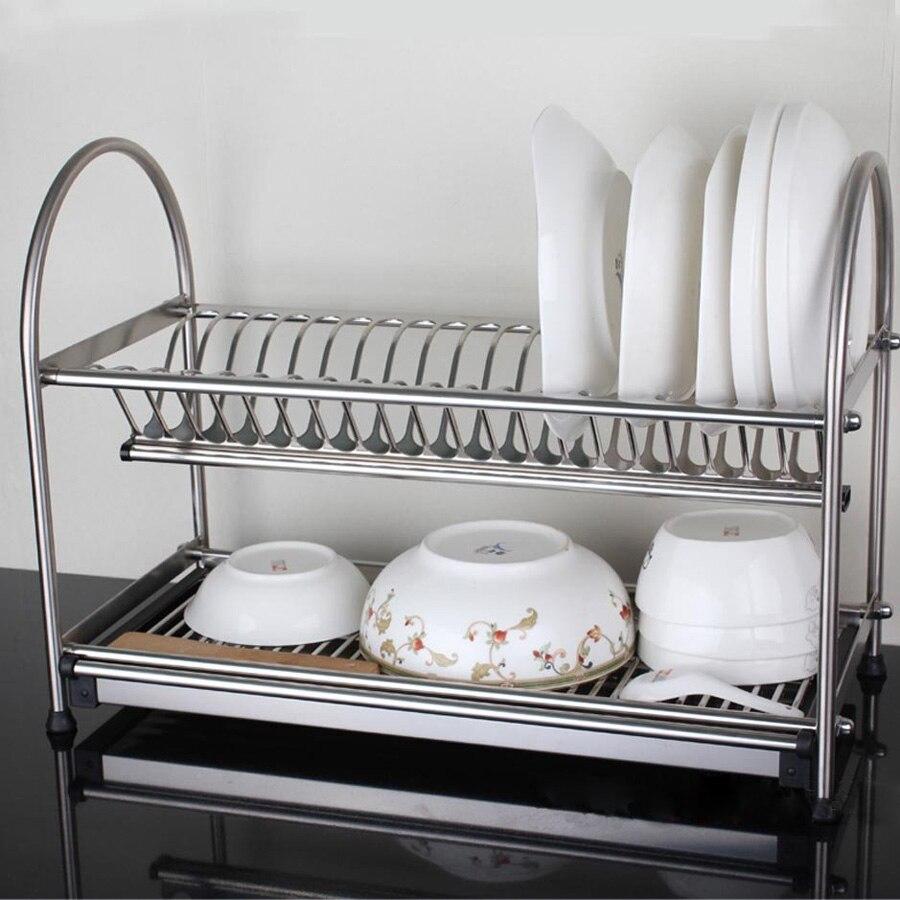 304 Stainless Steel Dish Rack, Dish Drainer, Drying Rack, Cutlery Holder, Utensil Tool Holder, Kitchen shelf N.W 3KG more