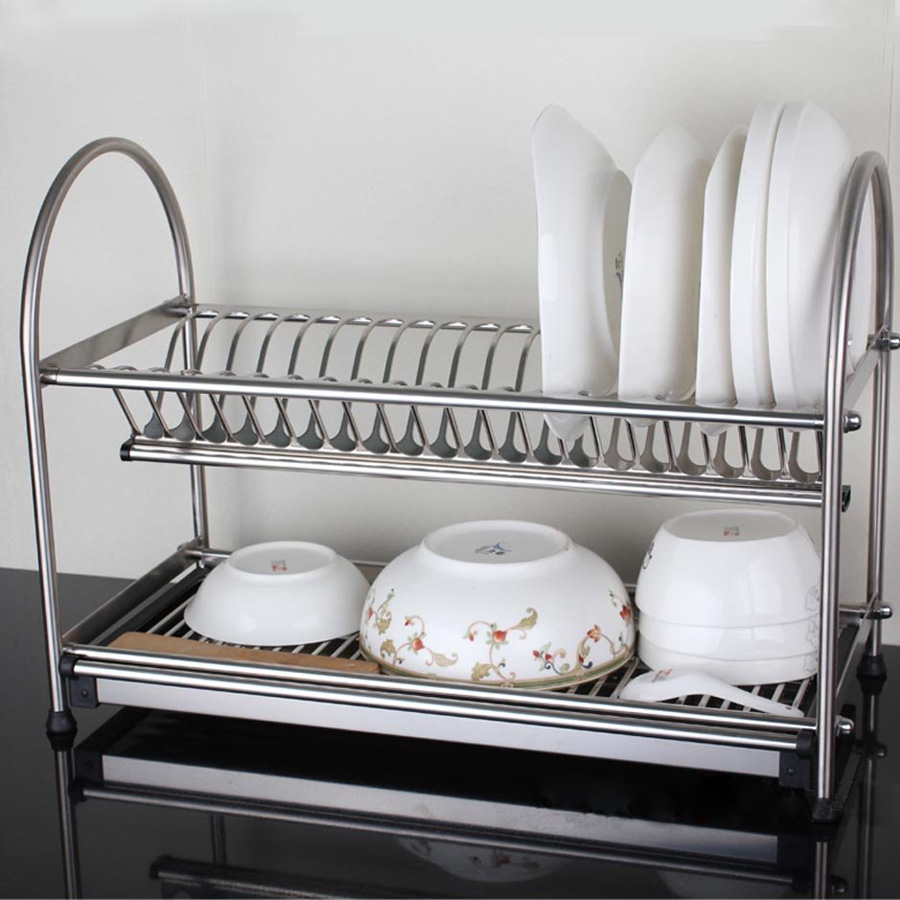 304 Stainless Steel Dish Rack, Dish Drainer, Drying Rack, Cutlery ...