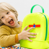 Baby Small Particle Block Board & Receive Bag Building diamond blocks Set DIY nanoblock Construction Toys for Children