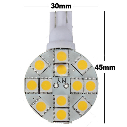 20X T10 194 921 W5W 12 SMD 5050 LED Warm White RV Landscaping Light Lamp Bulb