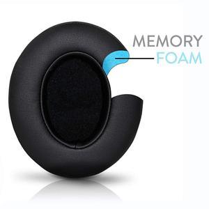 Image 4 - Almofada de substituição para fones de ouvido wantek beats, compatível com fones de ouvido b0500/studio o3/com fio b0501, preto preto