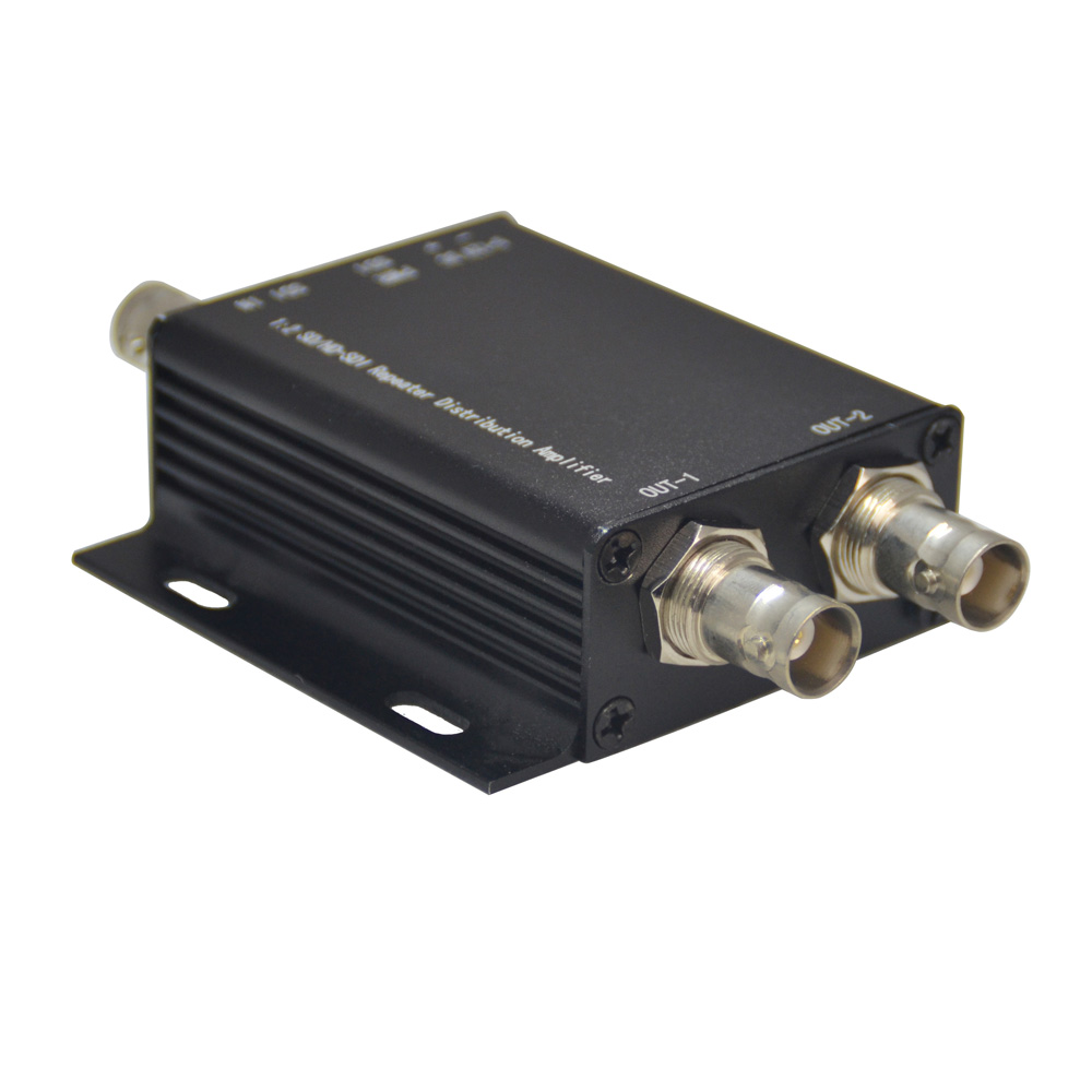 HD-SDI Signal Amplifier SDI Repeater 1x2, SD-SDI HD-SDI 3G-SDI Video Splitter Extender Adapter Distribution Up To 400M