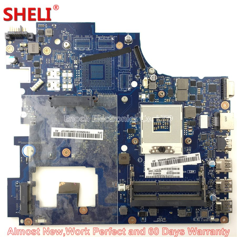 SHELI 90001179 11S90001179 Laptop Motherboard For Lenovo Ideapad G780 SERIES QIWG7 LA-7983P System Board Main Board Work Perfect nokotion la 7983p laptop motherboard for lenovo ideapad g780 intel hm76 gma hd 4000 dd3