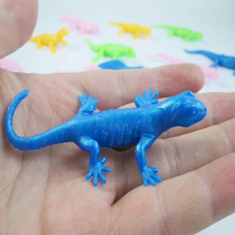 10 Pcs/lot Creative Environmental TPR Simulation Lizard Gecko prank model toys for learning children