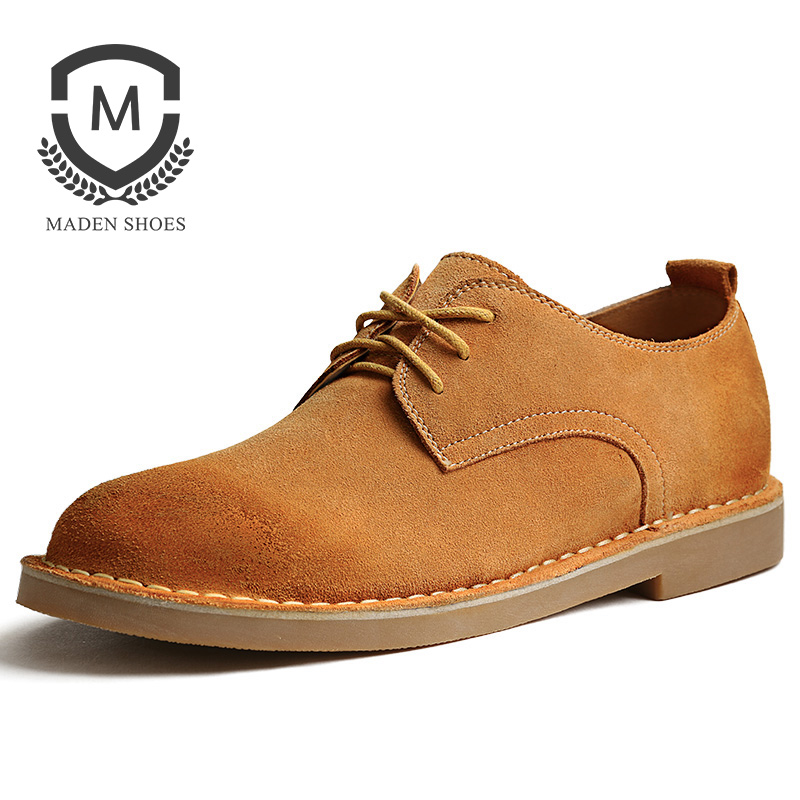 Maden Brand 2017 Spring/Autumn Retro Style Mens Casual Shoes Increased Loafers High Quality Lace Up Suede Designer Male Shoes maden brand 2017 spring autumn designer fashion mens casual shoes lace up comfortable suede driving shoes breathable male shoes