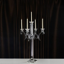 Candlestick Holder Crystal Classic 5 heads Table Centerpiece Decoration Candle holders Ornamentation for Home Events