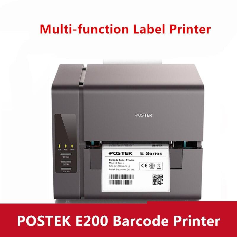 Postek E200 imprimante de codes à barres thermique/thermique transfert imprimante de codes à barres étiquette de bijoux/étiquette de produit/imprimante d'étiquettes de logistique