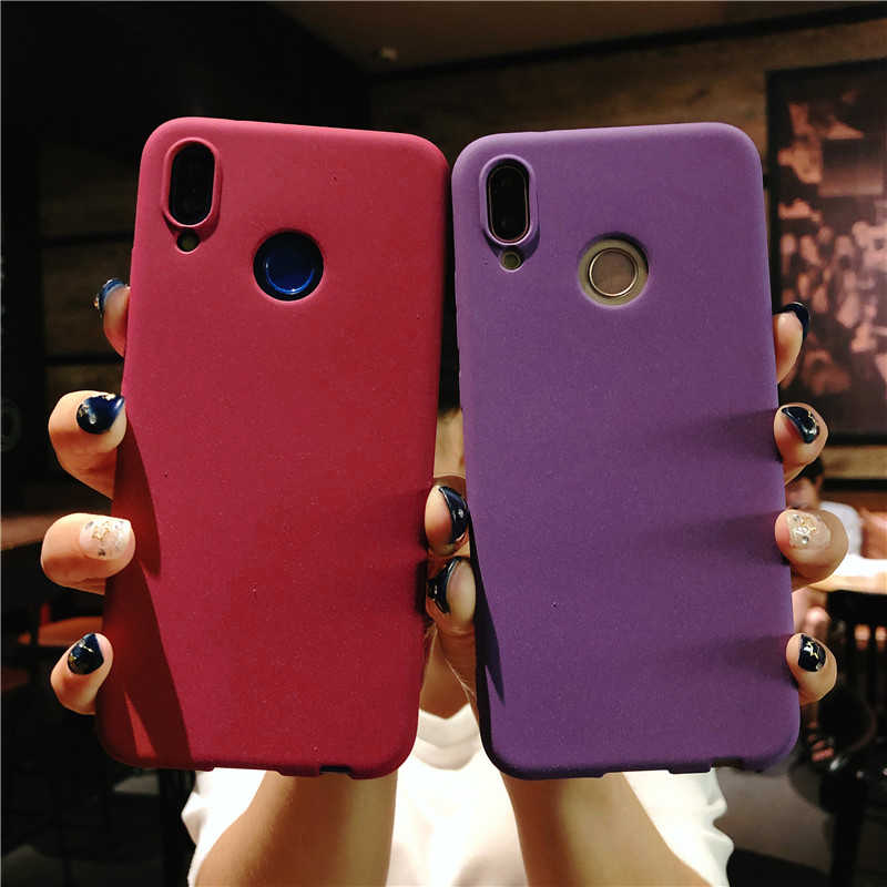 Sand Texture TPU Cover for Huawei P20 P30 Pro Mate 20 10 P10 P9 P8 Lite 2017 Nova 4 3 Honor 8 9 5A 5C 6A 7A 7C 6X 7X 8X Cases