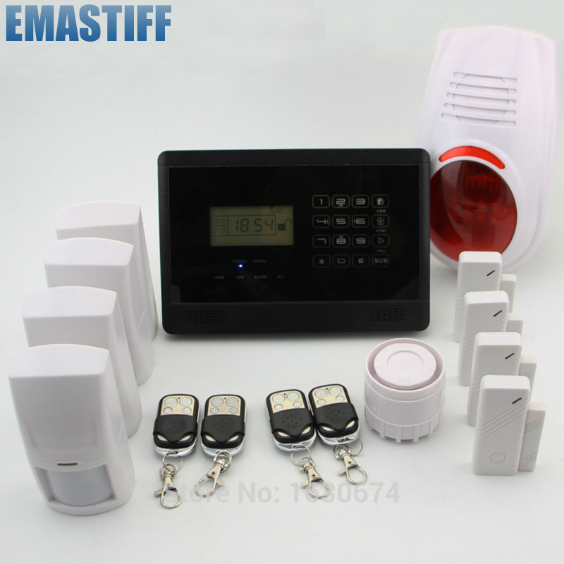 Wireless GSM Alarm system Home security Alarm systems with LCD Keyboard Sensor alarm+wireless siren полное описание как продать душу дь