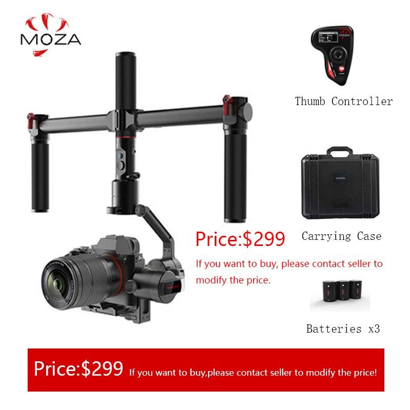 AirCross MOZA 3 Câmeras Multi-Contro Eixo Cardan Handheld Estabilizador Para a Câmera Mirrorless up 3.9lb/1800g para micro-câmera DSLR