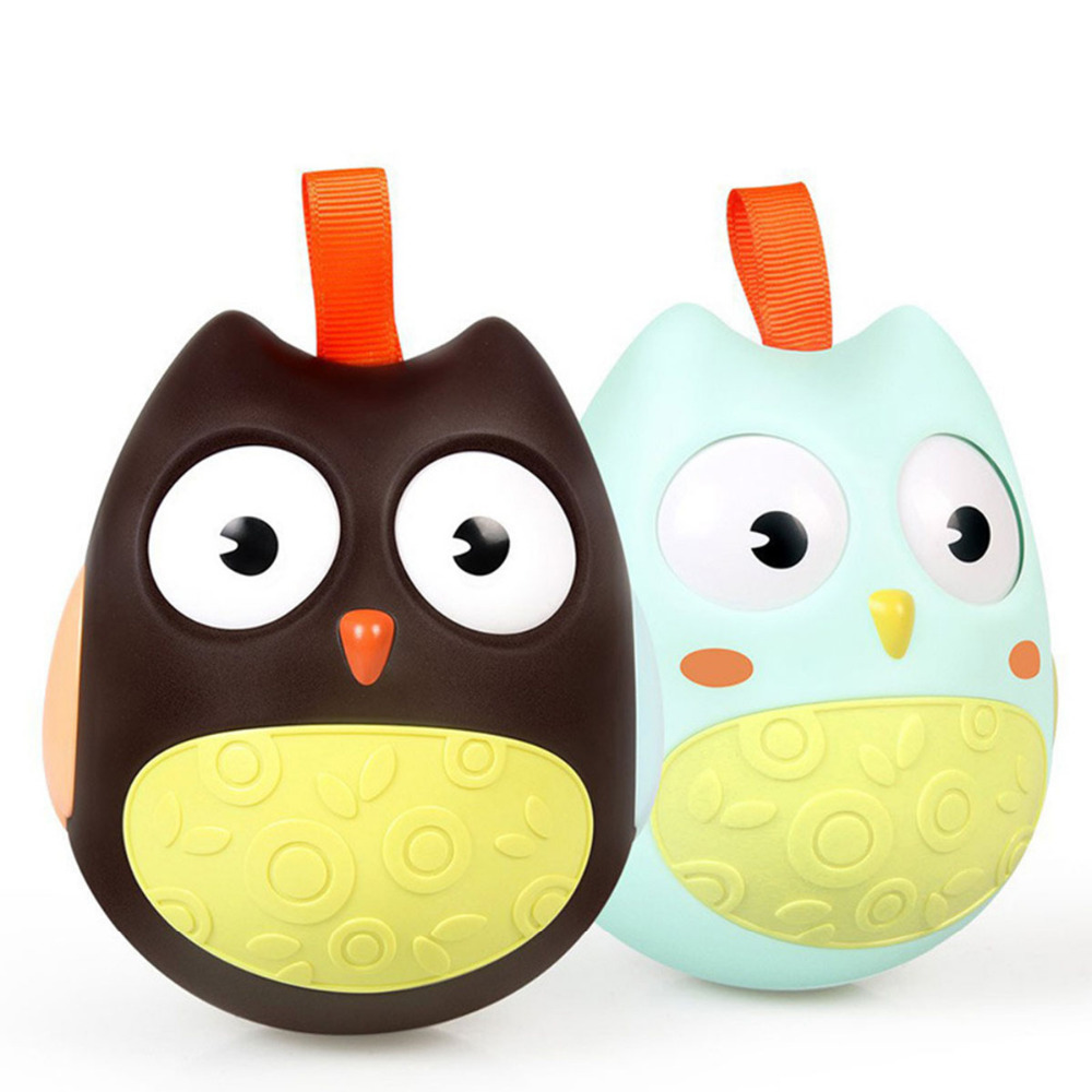 Q cute tumbler Baby Rattles soft colorful ball Toys touch bite hand trapped learning grasp children gift Mobiles Baby Soft kids