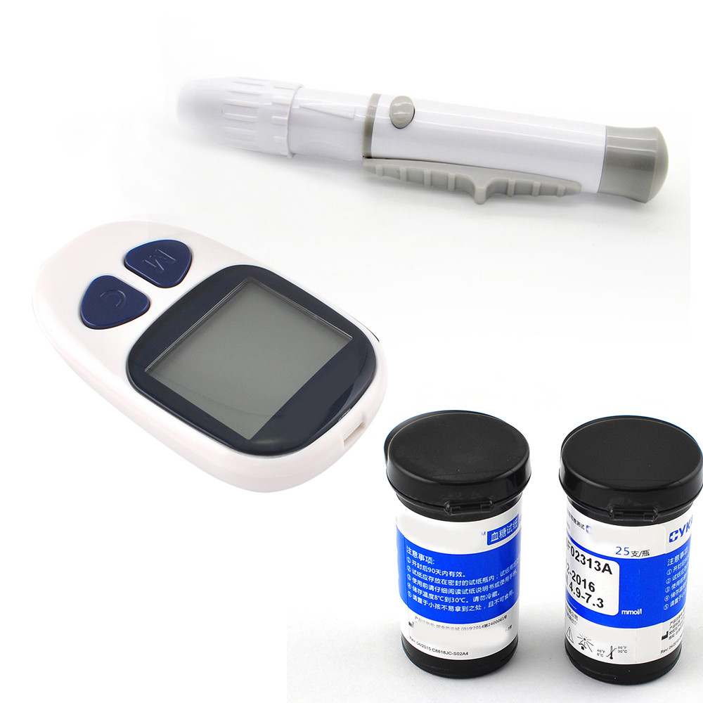 diabetes tester Healthcare household Blood Glucose Meter for Diabetes blood glucose meter diabete +50 test strips and 50 lancets one time collector sterile phlebotomy collection needle 50 28g blood glucose injection security lock cassette