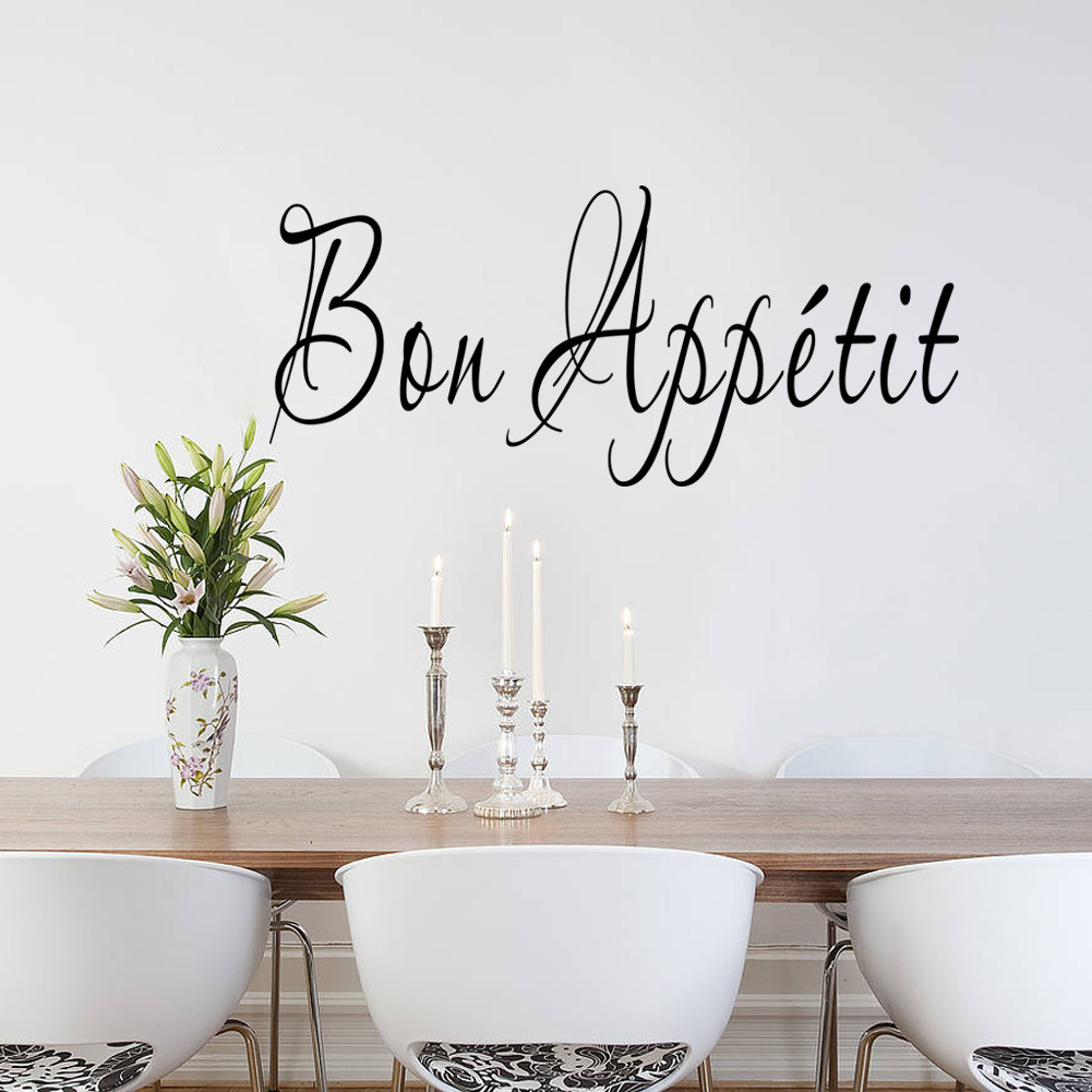 2017 Bon Appetit French Quote Wall Sticker Removable Home Living Room Kitchen  Decor DIY Art Decal Restaurant Decoration In Wall Stickers From Home U0026  Garden ...
