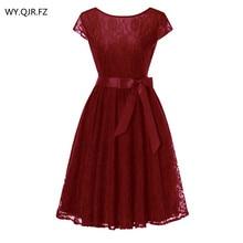 OML515J # красное кружевное бальное платье с короткими рукавами, платья подружки невесты, свадебное платье для выпускного вечера, дешевая оптовая продажа, женская модная одежда