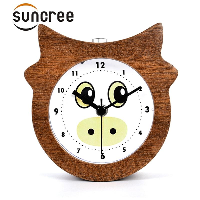 Suncree Chinese Zodiac series Ox patient alarm clock No Ticking Snooze Back light Digital Clock, Desktop Table Clocks