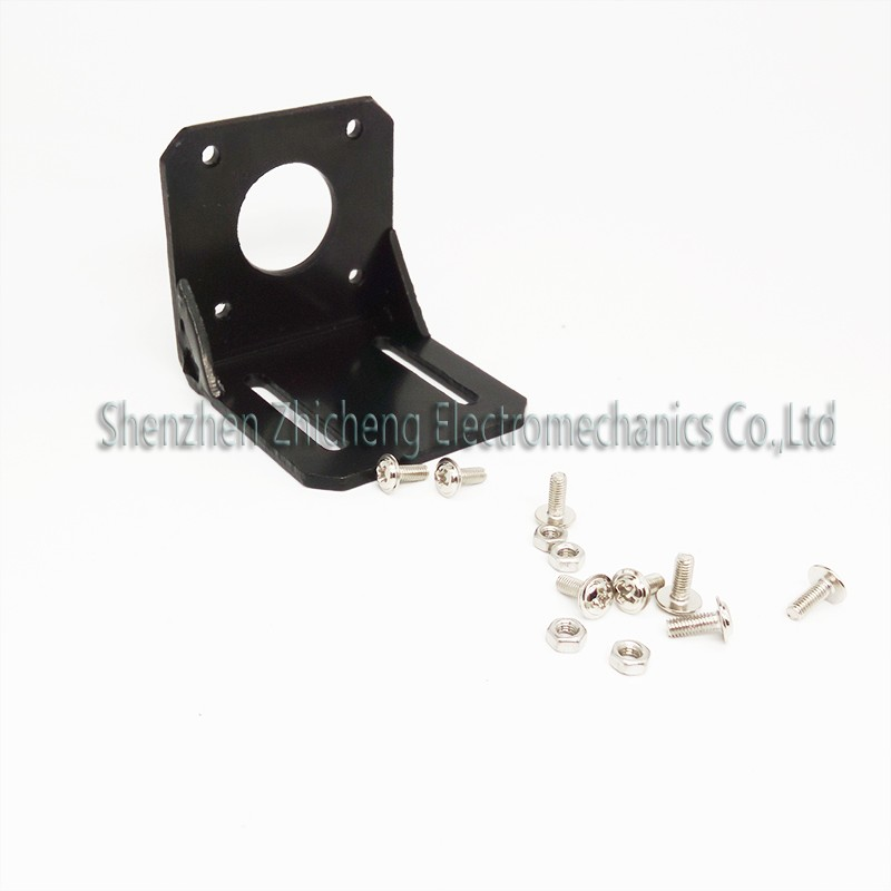 1pcs Hot Alloy Steel Mounting <font><b>bracket</b></font> for 42mm 57mm <font><b>NEMA</b></font> 17 <font><b>Nema</b></font> <font><b>23</b></font> stepper motor with Screws Black image
