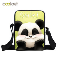 New Black Panda Bag Kids Mini Messenger Bag Small Shoulder Bags For Boys Girls Kids Cross