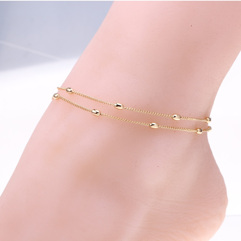 New fashion leg jewelry ankle bracelet Gold color pulseras hot simple ankle chain woman anklets