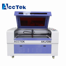 Non Metal CO2 Wood Paper MDF acrylic AKJ1390 laser cutting machine
